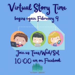 Virtual Storytime Begins Feb 9